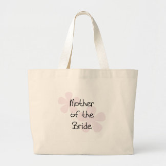 Pink Pastel Flowers Mother of Bride Tote Bags