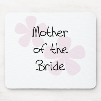 Pink Pastel Flowers Mother of Bride Mouse Pad