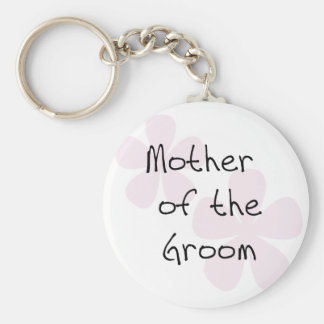 Pink Pastel Flowers Mother of Groom Keychain