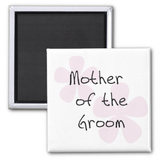 Pink Pastel Flowers Mother of Groom Magnet
