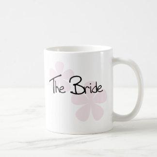 Pink Pastel Flowers The Bride Classic White Coffee Mug