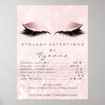 Pink Pastel Makeup Eyes Lashes Extension Prices Poster