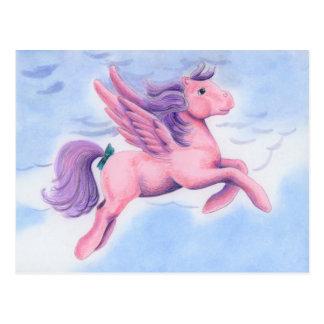 Pink Pastel Pegasus Postcard