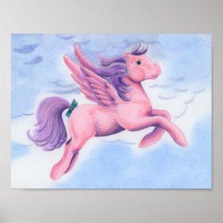 Pink Pastel Pegasus Poster