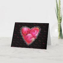 Pink Pastel Petal Heart Valentine Love Romance cards