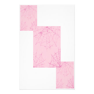 Pink Pastel Spider Web Customized Stationery