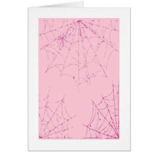 Pink Pastel Spider Web Greeting Cards