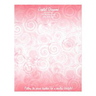 Pink Pastel Spiral Template Background Letterhead