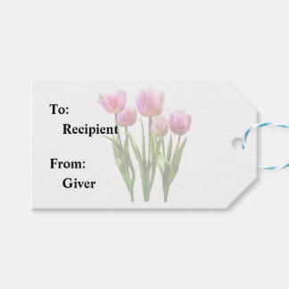 Pink Pastel Tulips Gift Tags