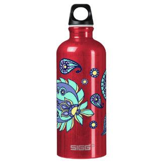 Pink Pastels Paisley Aluminum Aluminum Water Bottle