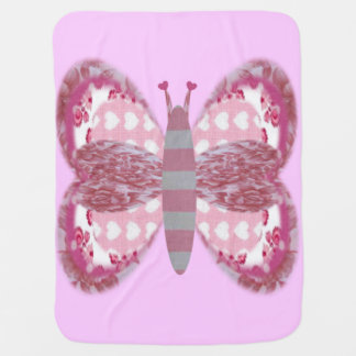 Pink Patchwork Butterfly Baby Blanket