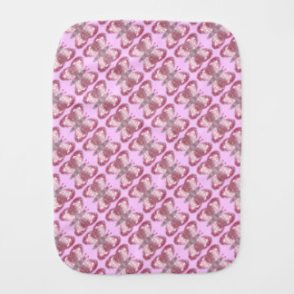 Pink Patchwork Butterfly Burp Cloth
