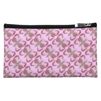 Pink Patchwork Butterfly Cosmetic Bag Makeup Bags