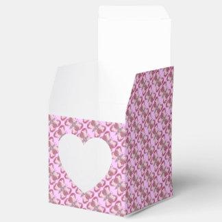 Pink Patchwork Butterfly Heart Favor Box