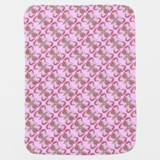 Pink Patchwork Butterfly Tiled Baby Blanket