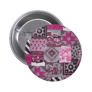 Pink Patchwork Button