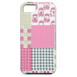Pink patchwork iPhone 5 case