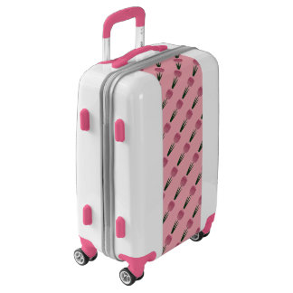Pink Patchwork Tulip Luggage