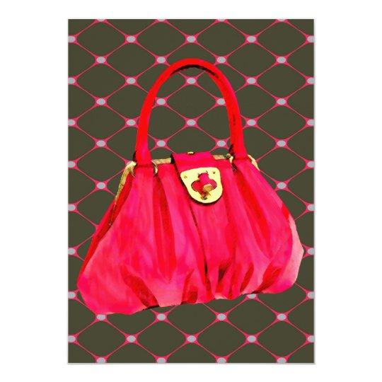Pink Patent Shoulder Bag Card