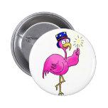 Pink Patriotic Flamingo Hat Sparkler Pins