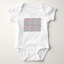 pink pattern baby bodysuit