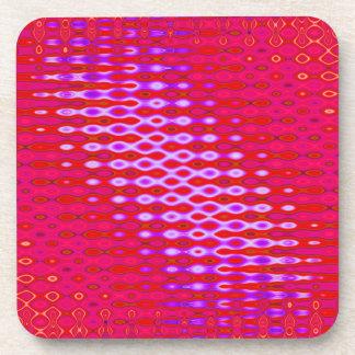 pink pattern background beverage coaster