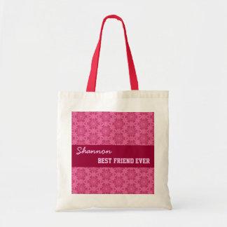 Pink Pattern Best Friend Ever Custom Name V037 Tote Bag