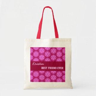 Pink Pattern Best Friend Ever Custom Name V051 Tote Bag