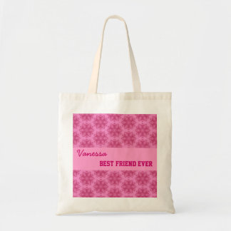 Pink Pattern Best Friend Ever Custom Name V053 Tote Bag