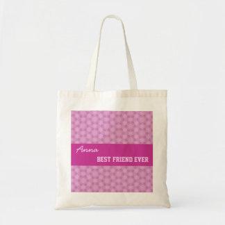 Pink Pattern Best Friend Ever Custom Name V082 Tote Bag