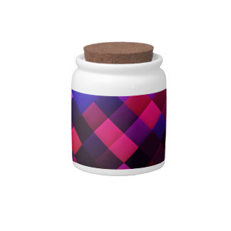 Pink pattern candy jar