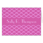 pink pattern customizable greeting cards