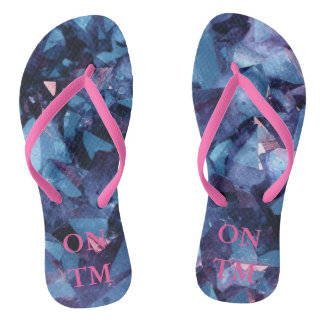Pink Pattern Flip Flops