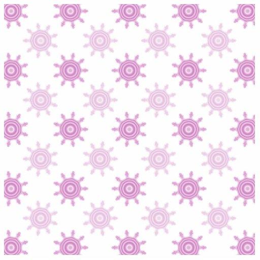 Pink Pattern. Fractal Circles. Photo Sculpture Magnet
