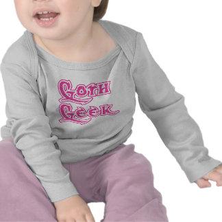 Pink Pattern Goth Geek Tshirt