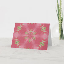 Pink Pattern II Thank You Card