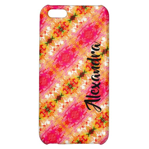 PINK PATTERN iPhone 5C CASE GLOSSY FINISH