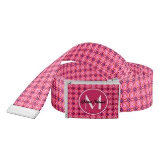 Pink Pattern Monogrammed Belt