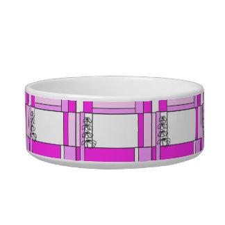 Pink Pattern Pet Bowl