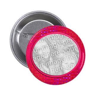 pink pattern photo frame 2 inch round button