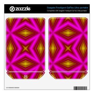 Pink Pattern Skin For FreeAgent GoFlex