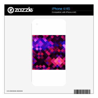 Pink pattern skin for the iPhone 4S