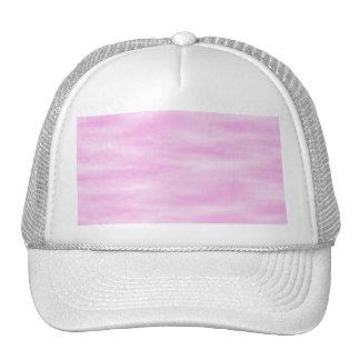 Pink pattern. Soft waves, clouds. Hat