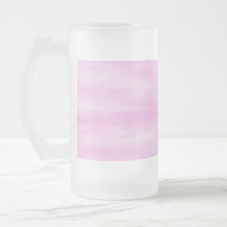 Pink pattern. Soft waves, clouds. 16 Oz Frosted Glass Beer Mug
