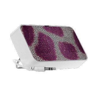 Pink pattern portable speaker