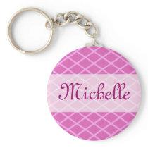 pink pattern template keychain