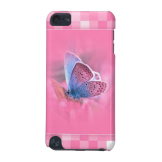 Pink Pattern with a very beautiful Butterfly iPod Touch (5th Generation) Cover