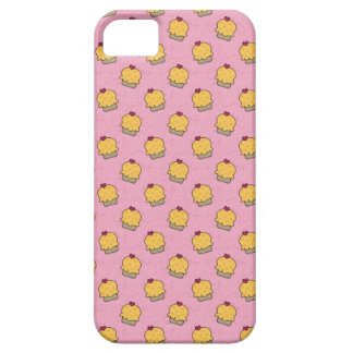 Pink pattern with cute cupcakes and hearts iPhone SE/5/5s case