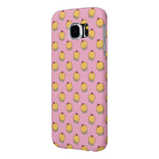 Pink pattern with cute cupcakes and hearts samsung galaxy s6 case