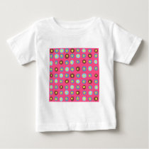 Pink Patterned Baby T-Shirt